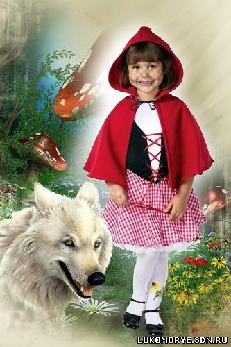 Детский шаблон для фотошопа красная
