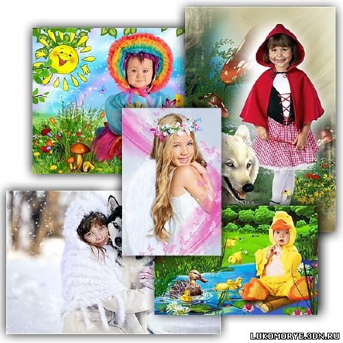 Шаблонов, автор, количество, эрагон, скачать, 2500х3500, 2100x3150, коллекция, новогодняя, детских, фотошопа